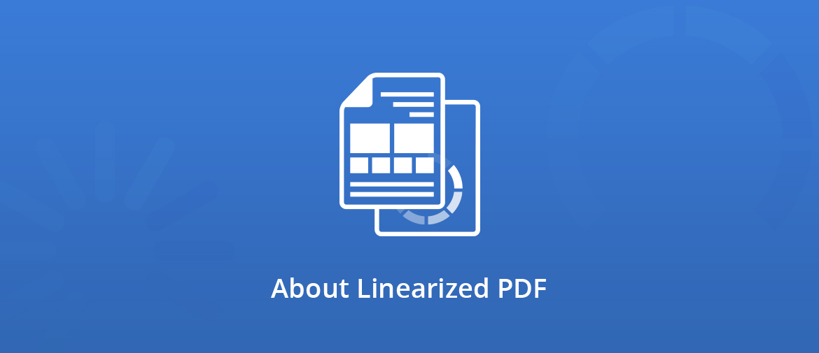 About linearized PDF illustration