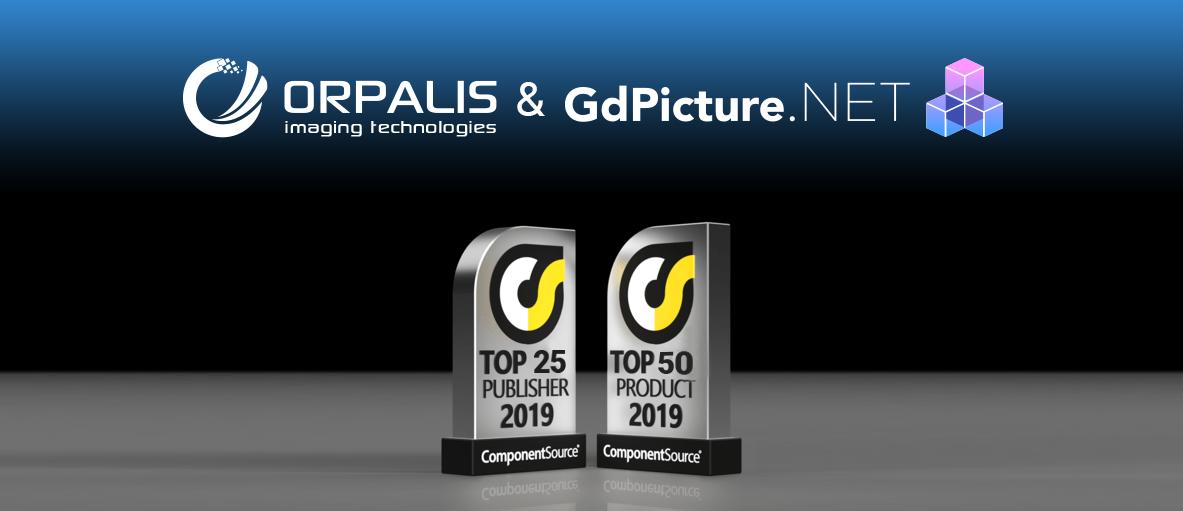 ORPALIS and GdPicture.NET Win 2019 ComponentSource Awards