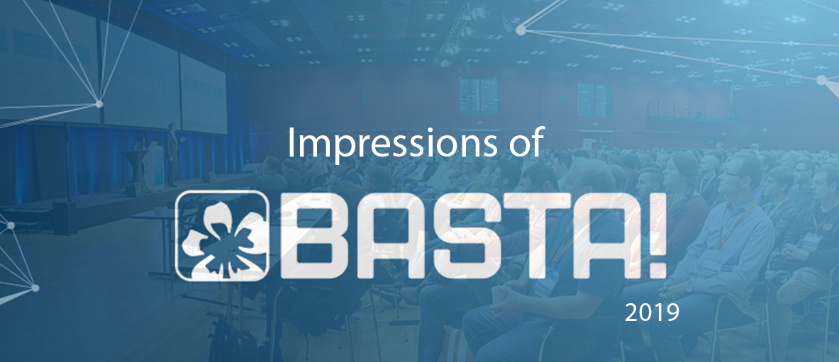 BASTA logo and an image of the conference