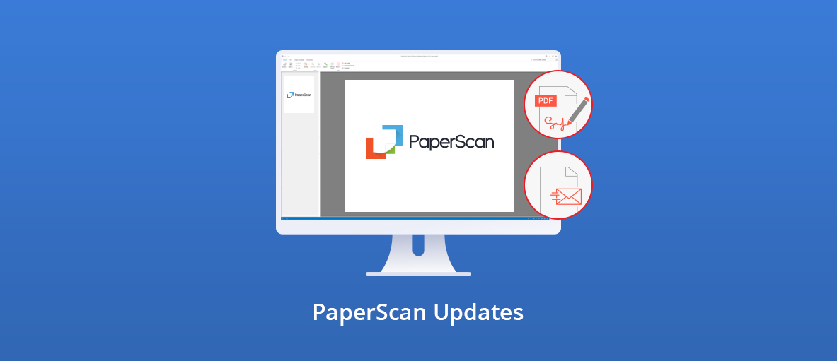 Illustration for the blog article about PaperScan new features