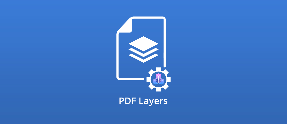 """Illustration for the blog article with the text """"PDF Layers"""""""