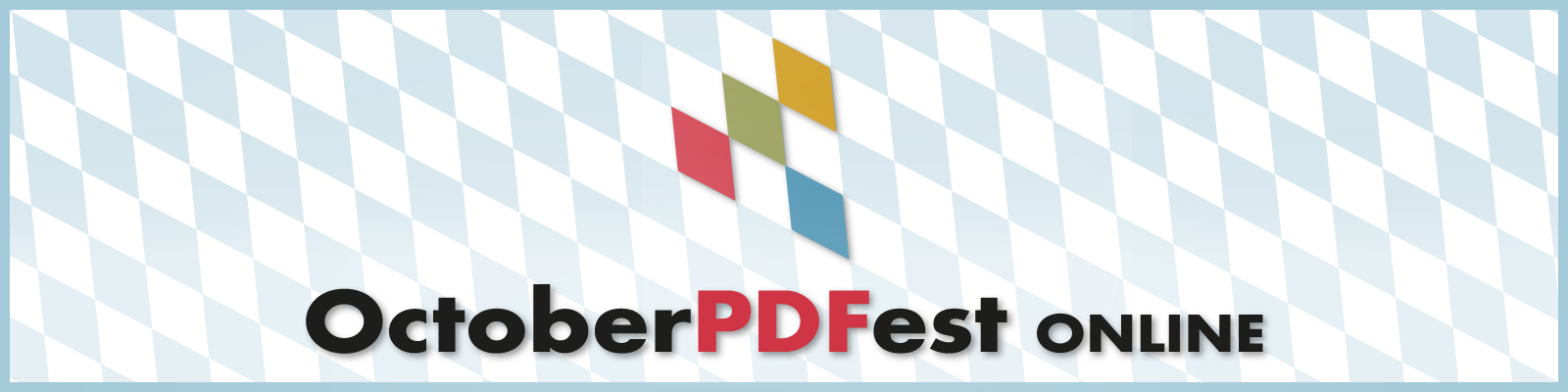 Banner with the logo for the October PDFest online.