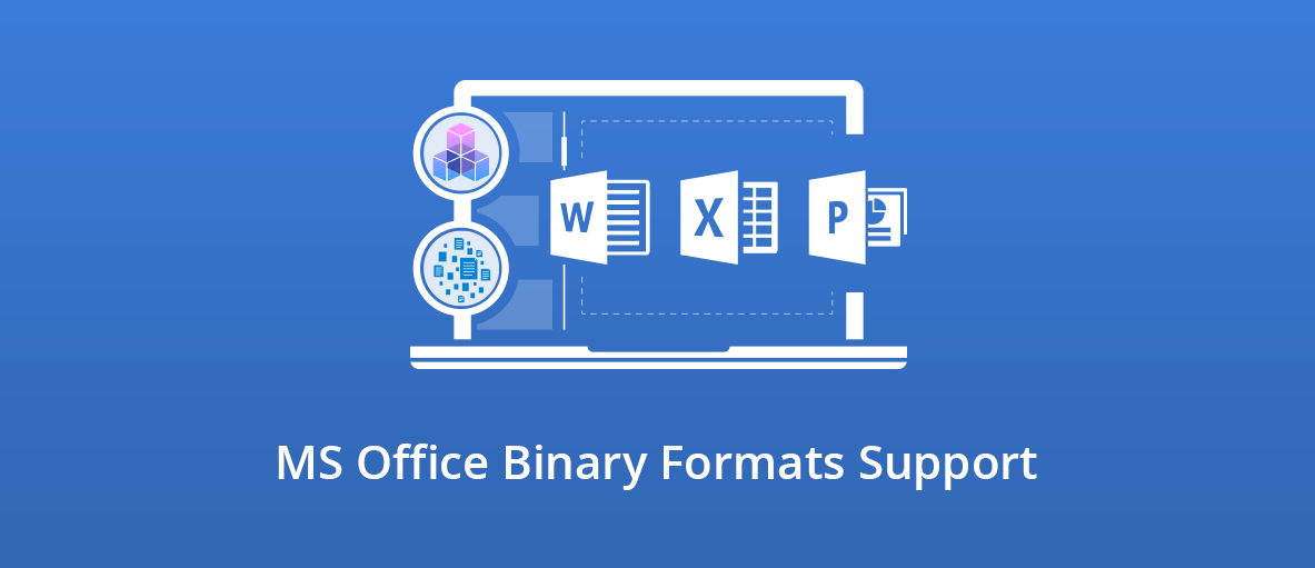 Illustration for the blog article about MS Office binary formats support in GdPicture.NET and DocuVieware.
