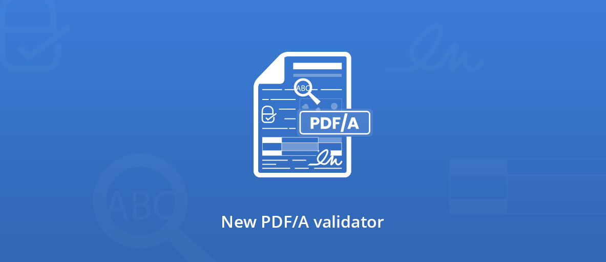 PDF/A validator illustration